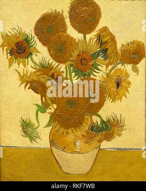 '''Sunflowers'', 1888, Vincent Van Gogh, National Gallery, London, England, UK. - Stock Photo