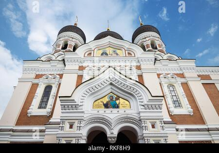 Alexander nevsky cathedral in the medieval city of Tallinn, Estonia. - Stock Photo