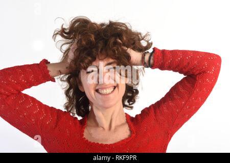 Woman who disheveled,. - Stock Photo