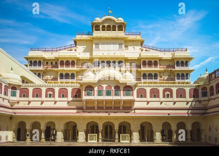 city palace in Jaipur, rajasthan, India - Stock Photo
