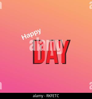 oh happy day. Life quote with modern background vector - Stock Photo