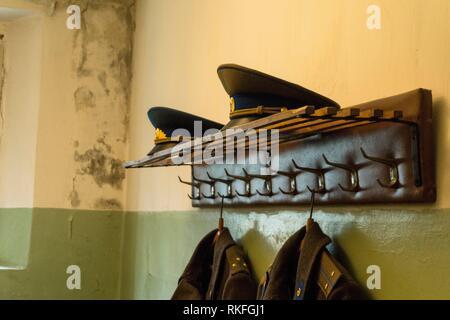 KGB cells. Vilnius. Lithuania. - Stock Photo
