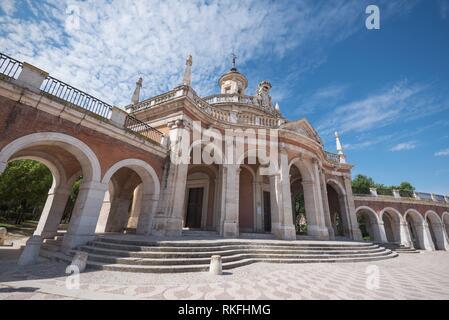 Aranjuez famous landmark, San Antonio de Padua church, Madrid, Spain. - Stock Photo