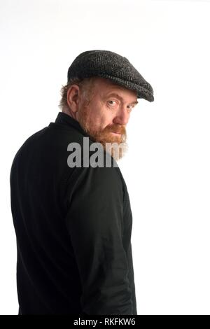 Portrait of a redheaded man. - Stock Photo