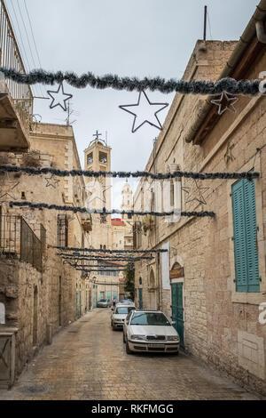 Bethlehem, Palestina - November 22, 2018: Streets of Bethlehem, West Bank, Palestina. - Stock Photo