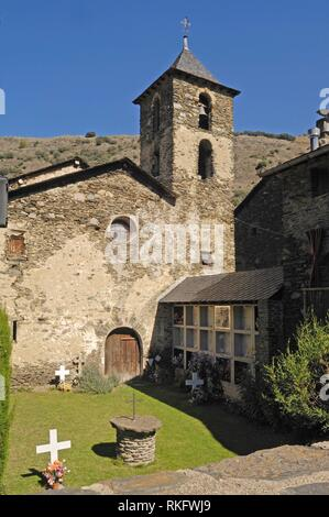 Sant Juli Church, Arros de Cardos, LLeida province, Catalonia , Spain. - Stock Photo