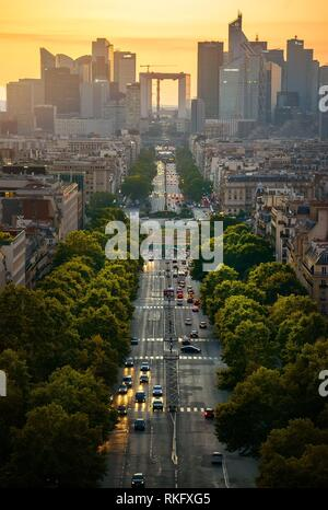 View on the modern district la Defense in Paris. - Stock Photo