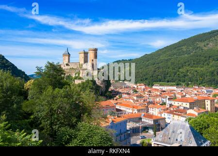 France, Occitanie,Ariege, the town of Foix. - Stock Photo