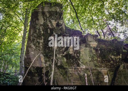 Residence of Martin Bormann, Hitler's personal secretary in Wolf's Lair - the headquarters of Adolf Hitler near Gierloz village, Poland. - Stock Photo