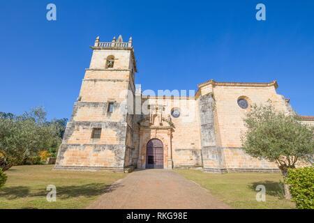 church of Saint Martin de Tours, colonial baroque style monument from 1768, in Ciguenza, Alfoz Lloredo, Cantabria, Spain, Europe. - Stock Photo