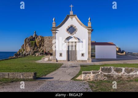 Boa Nova Chapel in Leca da Palmeira district of Matosinhos city in the northern Porto district of Portugal. - Stock Photo