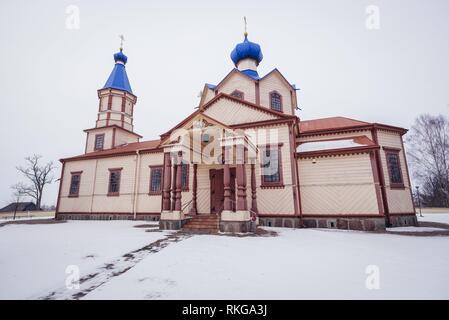 Orthodox Church of Saint James the Less in Losinka village, Hajnowka Country in Podlaskie Voivodeship of northeastern Poland. - Stock Photo