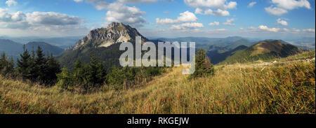 Mountain panorama in Slovakia - Stock Photo