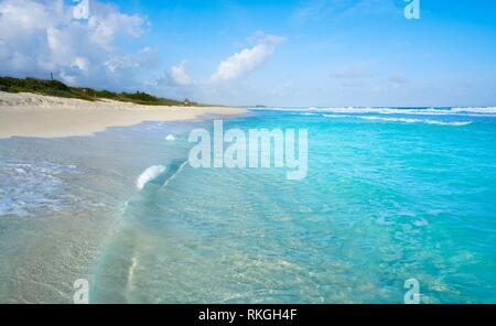 Cozumel island San Martin beach in Riviera Maya of Mayan Mexico. - Stock Photo