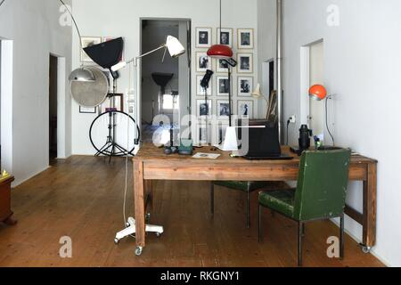 photo studio in an old space. - Stock Photo