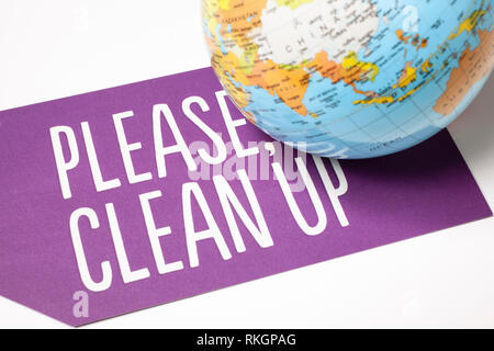 clean up the world - ecological concept - Stock Photo