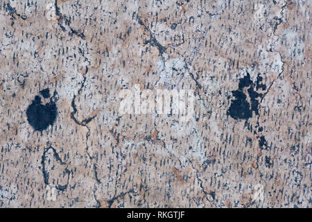 Detailed beige stone surface, texture of old natural marble - Stock Photo