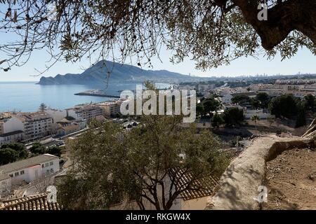 Views of the beautiful town of Altea, in the province of Alicante, Spain. - Stock Photo