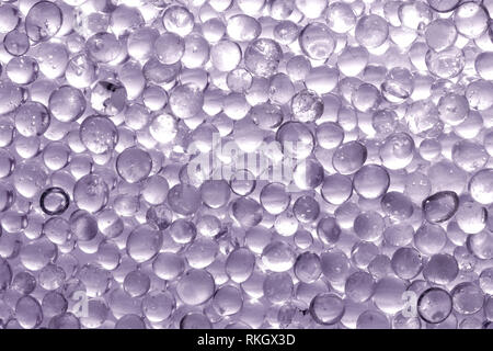 Macro shot of Silica gel granules. Desiccant used in industrial, moisture protection - Stock Photo