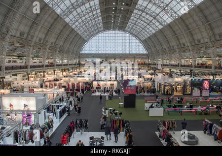 10 February 2019. Pure London fashion trade show at Olympia, general views. Credit: Malcolm Park - Stock Photo