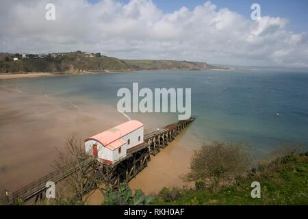 UK, Wales, Pembrokeshire, Tenby, the old lifeboat station. - Stock Photo