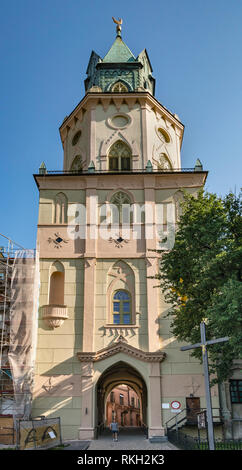 Trinitarian Tower at Cathedral Square or Plac Katedralny at Old Town in Lublin, Malopolska aka Lesser Poland region, Poland - Stock Photo