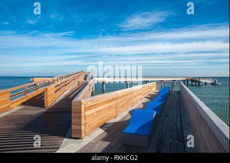 Pier, Heiligenhafen, Baltic Sea, Schleswig-Holstein, Germany, Europe. - Stock Photo