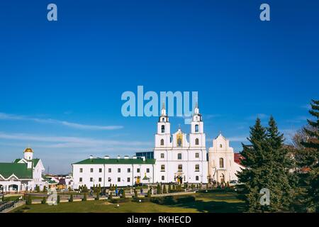 The Cathedral Of Holy Spirit In Minsk - Main Orthodox Church Of Belarus in Minsk. - Stock Photo