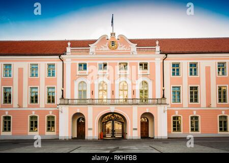 Parliament Building Of Estonia In Capital Tallinn. - Stock Photo