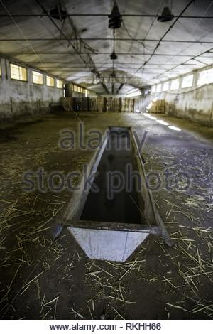 Old abandoned farm, detail of ruin and loneliness. - Stock Photo