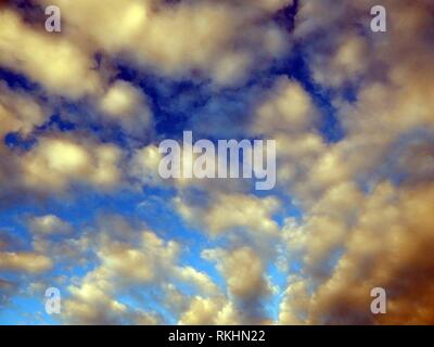 Clouds after rain and thunderstorms in the sky. Stock Photo
