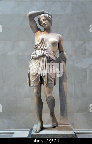 Roman copy. Statue of wounded Amazon. 1st-2nd CE. Cpy of a Greek statue, 450 BC. The Met, NY, USA. - Stock Photo