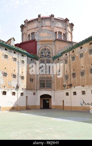 Old closed Modelo prison. Barcelona, Catalonia, Spain. - Stock Photo