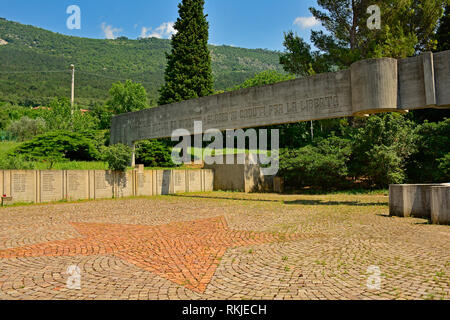 San Dorligo Della Valle, Italy - June 10th 2018. The Commemorative Park in San Dorligo Della Valle in Friuli Venezia Giulia, once park of Yugoslavia,  - Stock Photo
