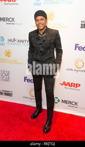 New York, United States. 11th Feb, 2019. New York, NY - February 11, 2019: Maxwell attends For the Love of Our Children National CARES Mentoring Movement Gala at Ziegfeld Ballroom Credit: lev radin/Alamy Live News - Stock Photo