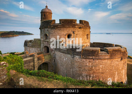 St Mawes Castle, St Mawes, Cornwall - Stock Photo