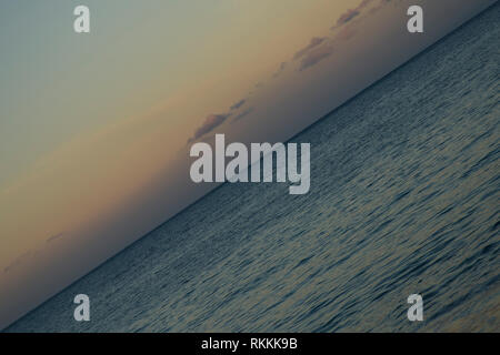 crazy horizon, pacific ocean, Colours of nature - Stock Photo