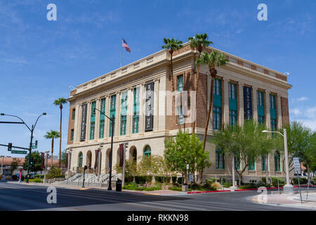The Mob Museum (National Museum of Organized Crime and Law), Las Vegas (City of Las Vegas), Nevada, United States. - Stock Photo