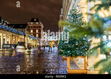 Christmas lights 2016 in Covent Garden, London, England - Stock Photo