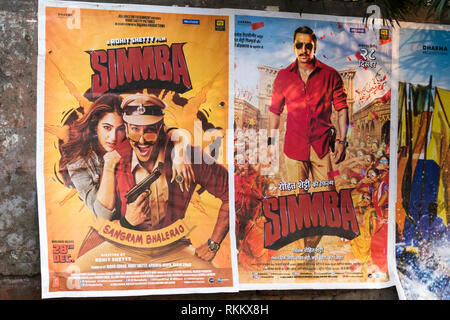 Bollywood movie posters on wall in Amritsar, Punjab, India