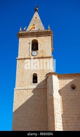 La Roda El Salvador church in Albacete at Castile La mancha of Spain.