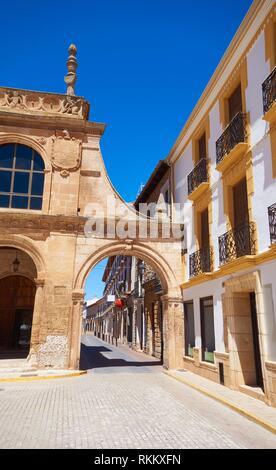San Clemente village in Cuenca at Castile La Mancha by Saint James Way of levante. - Stock Photo