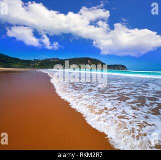 Rodiles Beach in Asturias of spain near villaviciosa river. - Stock Photo