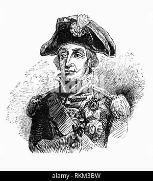 A portrait of Vice Admiral Horatio Nelson (1758-1805), British flag officer in the Royal Navy. He was noted for his inspirational leadership, grasp of strategy, and unconventional tactics, which together resulted in a number of decisive British naval victories, particularly during the Napoleonic Wars. He was wounded several times in combat, losing the sight in one eye in Corsica and most of one arm in the unsuccessful attempt to conquer Santa Cruz de Tenerife. He was shot and killed during his final victory at the Battle of Trafalgar near the port city of Cádiz in 1805. - Stock Photo