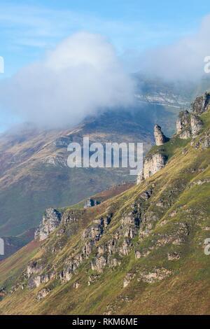 Miera Valley, Valles Pasiegos, Cantabria, Spain, Europe. - Stock Photo