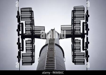 Gondola lift tower, low angle view - Stock Photo