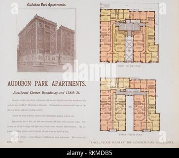 Audubon Park Apartments. Southeast Corner Broadway and 156th Street. The World's loose leaf album of apartment houses containing views and ground - Stock Photo
