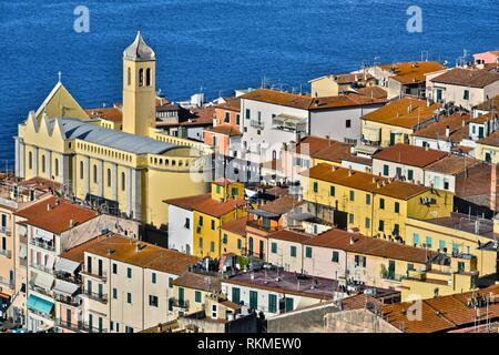 City of Porto Santo Stefano in the Province of Grosseto, Tuscany, Italy. - Stock Photo