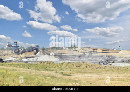 Surface coal mine in central Serbia - Stock Photo
