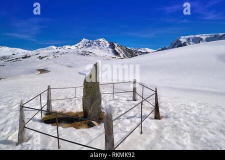 Baqueira Beret in Lerida Catalonia ski spot resort in Aran Valley of Pyreness Spain. - Stock Photo